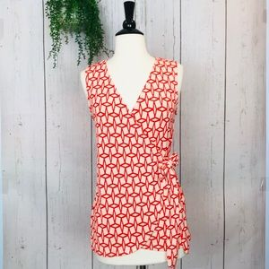 [41Hawthorn] Valerie Toe Wrap Knit Top Coral S